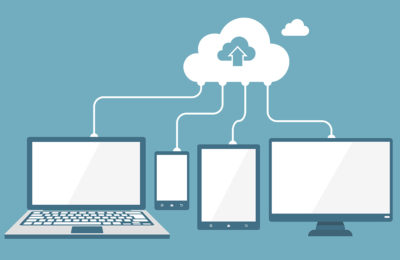 Cloud technology flat illustration. Eps10